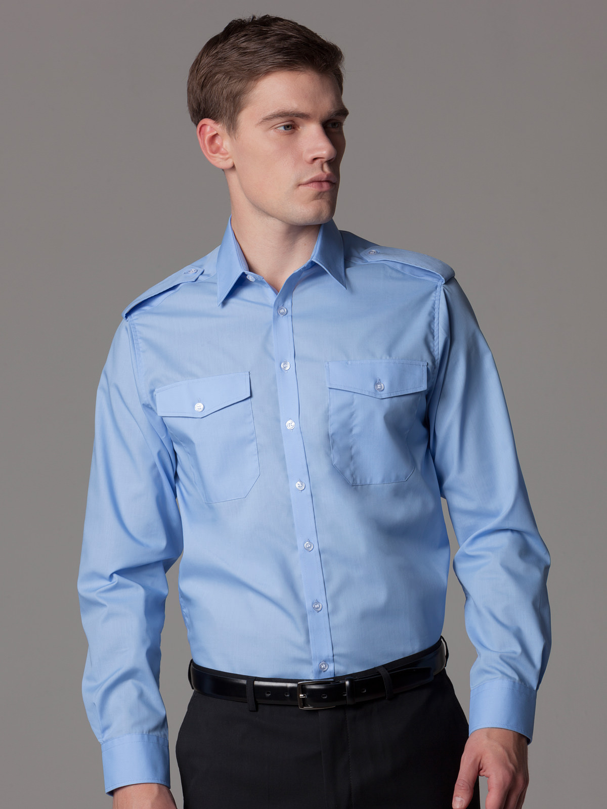 Men S Suits On Pinterest: KK134 Men's Pilot Shirt Long Sleeve