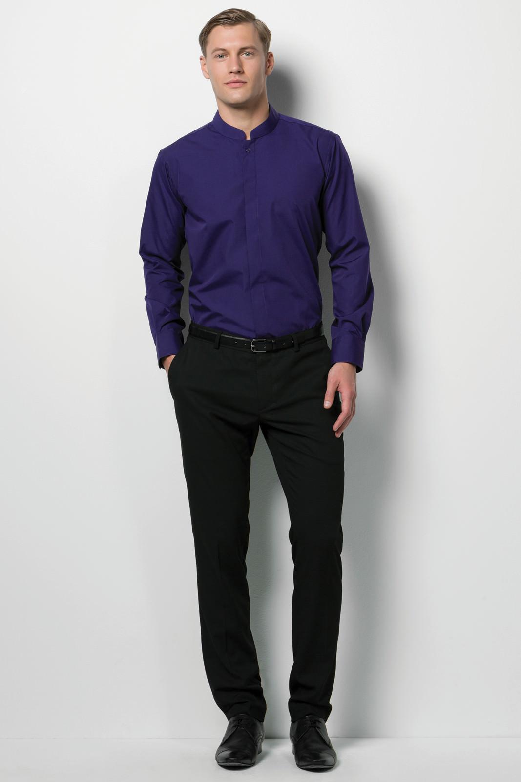 Kk161 Men S Mandarin Collar Shirt Kustom Kit