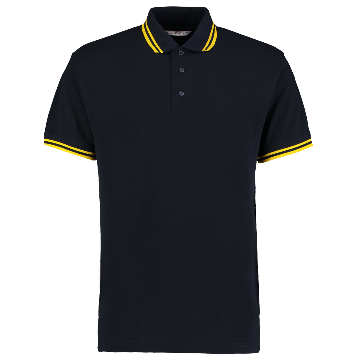 KK409 Men 39 s Tipped Collar Polo Kustom Kit