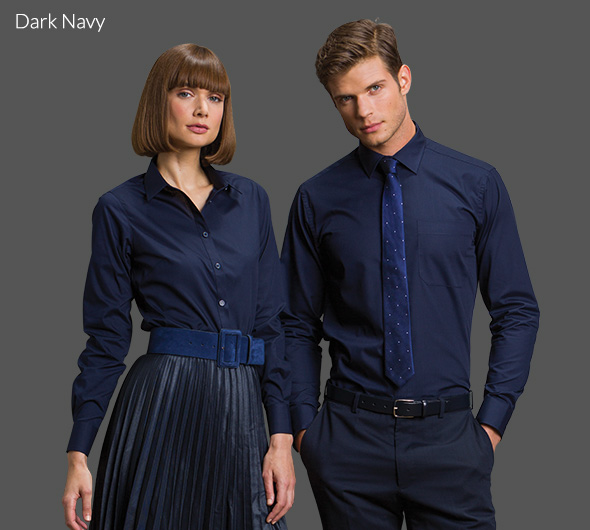 Dark Navy Poplin Shirt