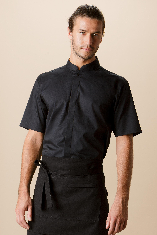 d8b202a15cb91e KK122 Mandarin Collar Bar Shirt - Kustom Kit