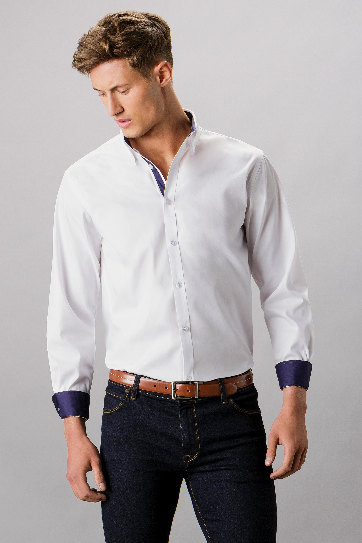 Kk190 Contrast Premium Oxford Shirt Kustom Kit