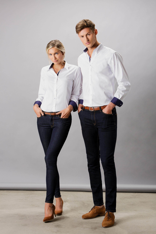 03971f96a1e KK190 Contrast Premium Oxford Shirt - Kustom Kit
