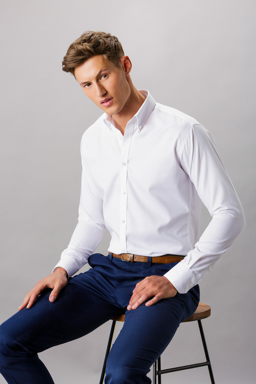 c098f9761e11 KK139 Slim Fit Non Iron Oxford Twill Shirt - Kustom Kit
